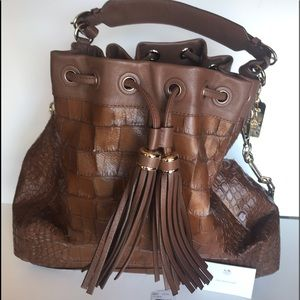 Coach Brown Cognac Leather Hobo Handbag